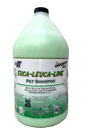DOUBLE K GROOMER'S EDGE EUCA LEUCA LIME PET SHAMPOO for Dogs and Cats - 3.8 litres (1 Gallon)