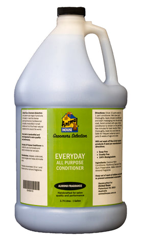 ANIMAL HOUSE GROOMERS SELECTION EVERYDAY ALL PURPOSE CONDITIONER for Dogs and Cats - 3.79 litres (1 Gallon)