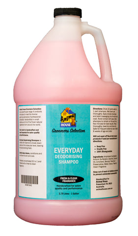 ANIMAL HOUSE GROOMERS SELECTION EVERYDAY DEODORISING SHAMPOO for Dogs and Cats - 3.79 litres (1 Gallon) **SPECIAL 30% OFF INTRODUCTORY PRICE**