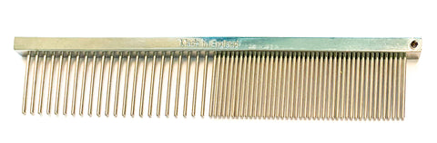 "ANIMAL HOUSE 4.5"" FACE COMB - SHORT TOOTH - FINE/MEDIUM - MADE IN ENGLAND"