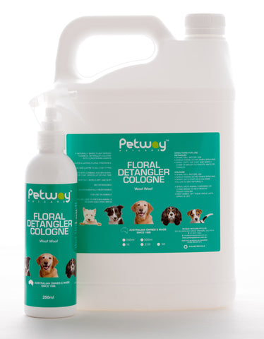 PETWAY PETCARE FLORAL DETANGLER SPRAY (formerly Woof Woof) for Dogs and Cats (WH)