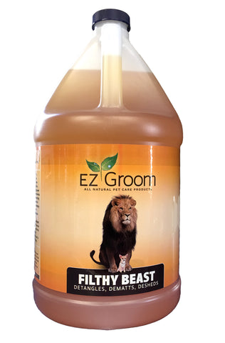 ON SPECIAL - EZ-GROOM FILTHY BEAST SHAMPOO 3.8 litres - 1 US. GALLON (RRP $72.20)