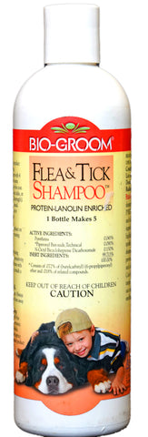 BIO-GROOM FLEA & TICK SHAMPOO 355ml for DOGS