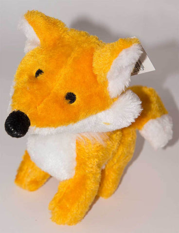 PLUSH MR FOX TOY WITH SQUEAKER 10""