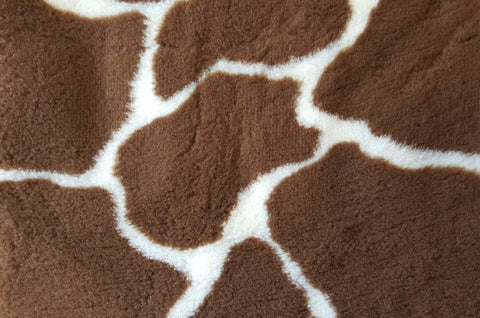 VET BED - RUBBER BACKED - BROWN AND CREAM GIRAFFE PRINT