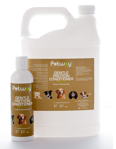 PETWAY PETCARE GENTLE PROTEIN CONDITIONER with ALOE -ASSORTED SIZES AVAILABLE (WH)