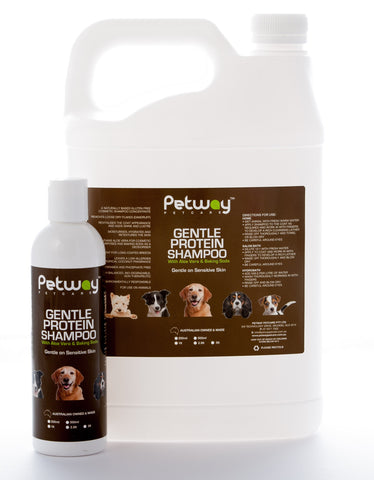 PETWAY PETCARE GENTLE PROTEIN SHAMPOO CONCENTRATE- ASSORTED SIZES AVAILABLE