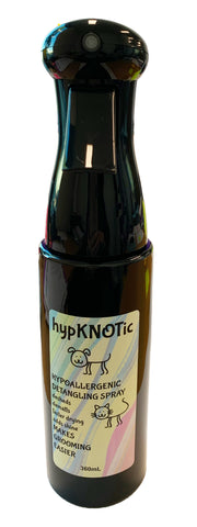 HYPKNOTIC HYPOALLERGENIC DETANGLING SPRAY 360ml (Flairosol bottle) - UNSCENTED or PEPPERMINT
