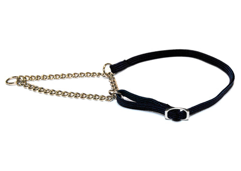 HALF CHECK NYLON SHOW COLLAR 7MM (28-52cm)