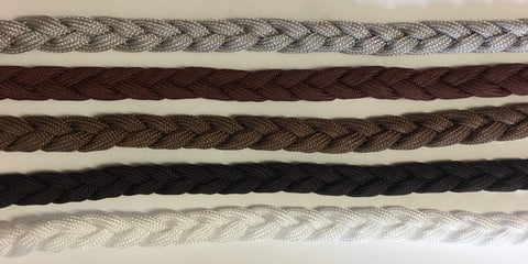 PLAITED TIE ON LEAD  APPROX. 91cm - ASSORTED COLOURS