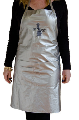 ISLE OF DOGS SILVER GROOMING APRON