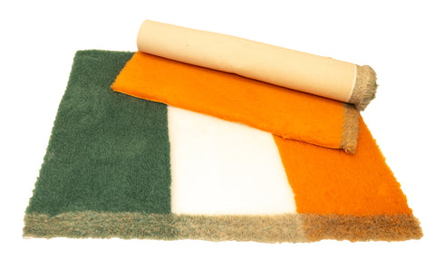 VET BED - RUBBER BACKED - IRISH FLAG - APPROX 100cm x 75cm