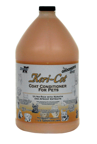DOUBLE K GROOMER'S EDGE KERI-COT PET COAT CONDITIONER for Dogs and Cats - 3.8 litres (1 Gallon)