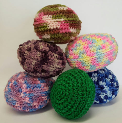 COLOURED KNITTED BALL - SOLD INDIVIDUALLY