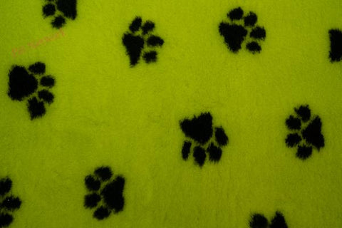 VET BED - GREEN BACKED - LIME WITH BLACK PAWS