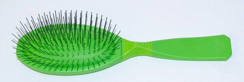 MADAN OVAL PIN BRUSH MEDIUM - LIGHT GREEN
