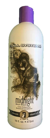 #1 ALL SYSTEMS MIDNIGHT COLOUR ENHANCING BOTANICAL DOG AND CAT CONDITIONER 473ml