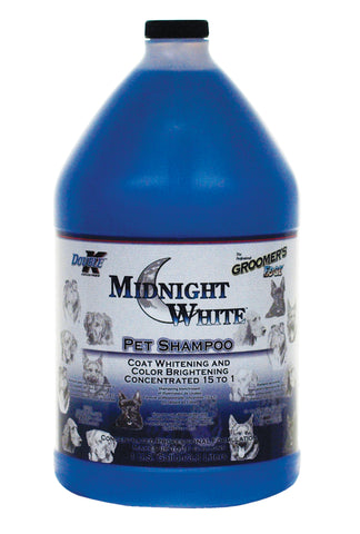 DOUBLE K GROOMER'S EDGE MIDNIGHT WHITE PET SHAMPOO for Dogs and Cats - 3.8 litres (1 Gallon)