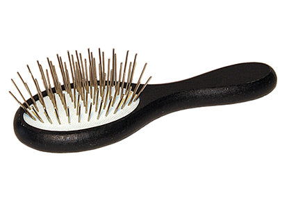 SHOW TECH MINI WOODEN OVAL PIN BRUSH (12cm) - BLACK