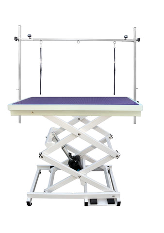 ELECTRIC LIFT GROOMING TABLE (scissor lift) & H FRAME 117X66 X 30 - 104cm (PN109A) - available in Purple, Blue or Black