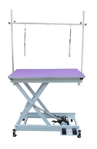 ELECTRIC LIFT GROOMING TABLE & H FRAME 110X60cm (PN140) - available in Purple, Pink, Blue or Black