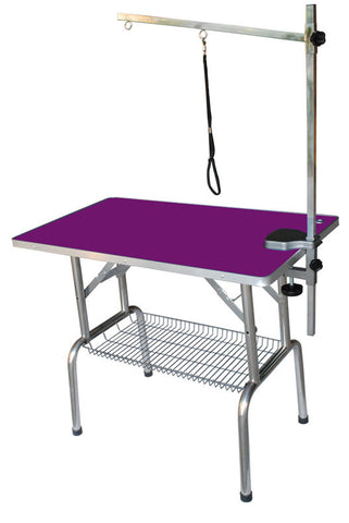 STANDARD GROOMING TABLE & ARM WITH WIRE BASKET 95X55X78CM - PN302A (BLUE ONLY)
