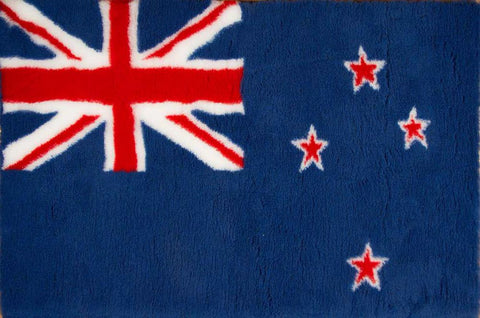 VET BED - RUBBER BACKED - NEW ZEALAND FLAG - 100cm x 75cm