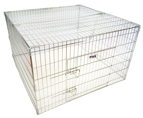 "ANIMAL HOUSE DOG PEN WITH LID 40"" X 40"" X 24"" (101 X 101 X 61cm)"