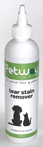 PETWAY TEAR STAIN REMOVER for dogs and cats (available in 250ml and 500ml)