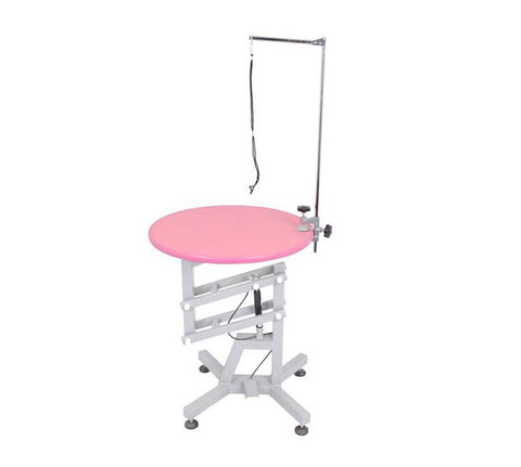 ANIMAL HOUSE Z-LIFTING ROUND GROOMING TABLE PINK