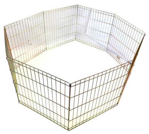 "ANIMAL HOUSE PUPPY PEN 8 PANELS 61cm High (24"") NO DOOR"
