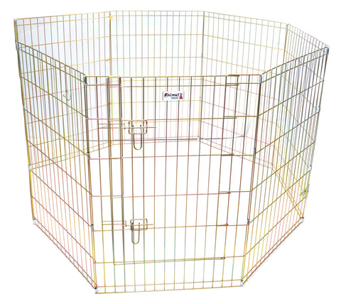 "ANIMAL HOUSE PUPPY PEN 8 PANELS 91cm High (36"") with DOOR"