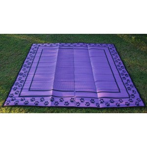 PAWS 4 EFFECT CANINE MAT GREEN 2.4m x 2.4m (AVAILABLE IN PURPLE, PINK OR GREEN)