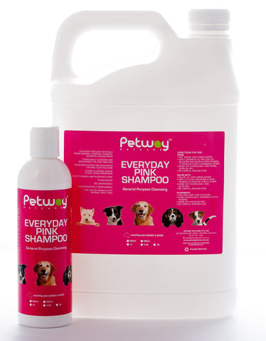 PETWAY PETCARE PINK SHAMPOO  - ASSORTED SIZES AVAILABLE