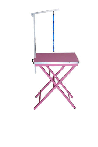 PINK SHOW TABLE WITH ARM 60LX45CM W X 80-87CM H - N306