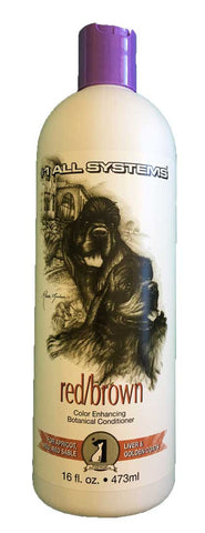 #1 ALL SYSTEMS RED/BROWN COLOUR ENHANCING BOTANICAL DOG AND CAT CONDITIONER 473ml
