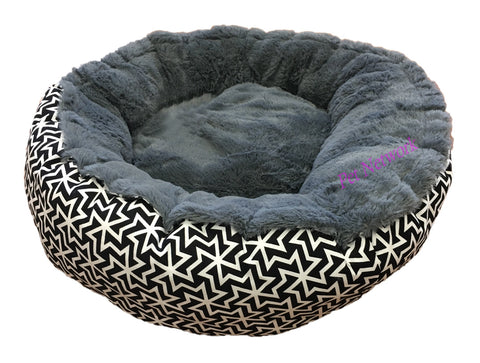 T&S SNUG BED - BLACK AND WHITE CHAOS- 60CM