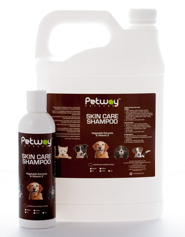 PETWAY PETCARE SKIN CARE SHAMPOO  AVAILABLE IN TWO SIZES