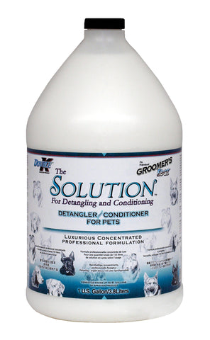 DOUBLE K GROOMER'S EDGE THE SOLUTION PET DETANGLER/CONDITIONER for Dogs and Cats - 3.8 litres (1 Gallon)