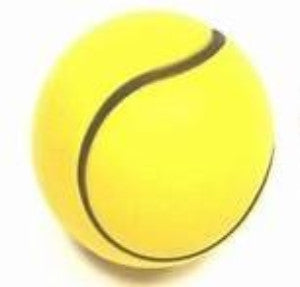 BOUNCING SPONGE BALL - 6CM - TENNIS BALL DESIGN