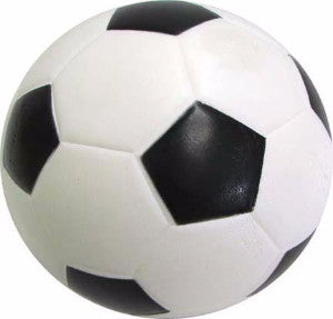 BOUNCING SPONGE BALL - 6CM - SOCCER BALL DESIGN