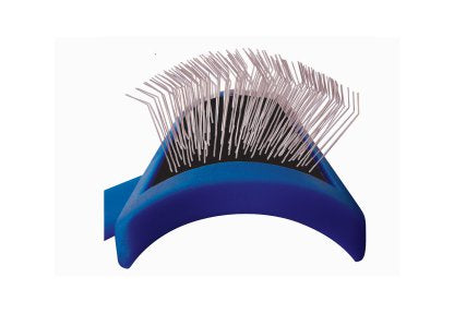 "SHOW TECH ""TUFFER THAN TANGLES"" SLICKER BRUSH - Long Firm Pins - Medium Size"
