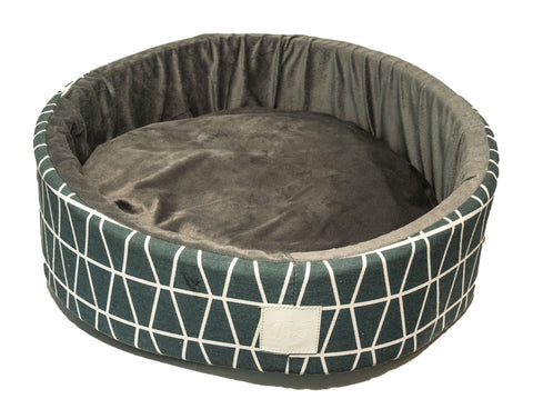 T&S DOG BED - GREY AND WHITE