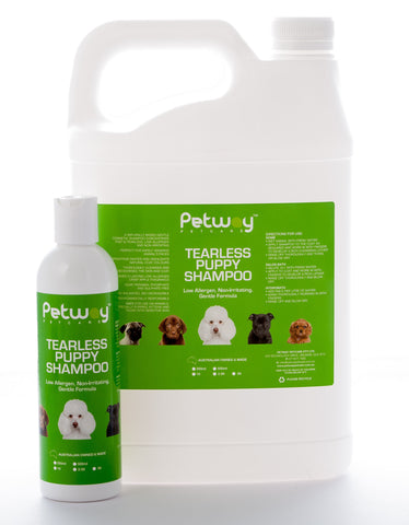 PETWAY PETCARE TEARLESS PUPPY SHAMPOO  - AVAILABLE IN ASSORTED SIZES Puppies, Kittens and Sensitive Skins (WH)