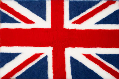 VET BED - RUBBER BACKED - UK FLAG (UNION JACK) - 100cm x 75cm