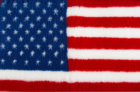 VET BED - RUBBER BACKED - USA FLAG - 100cm x 75cm