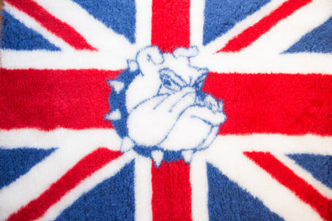 VET BED - RUBBER BACKED - UNION JACK WITH BRITISH BULLDOG - 100cm x 75cm