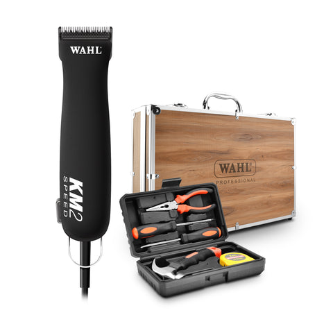 WAHL KM2 CLIPPER IN CASE WITH BONUS TOOLKIT - WITH WAHL ULTIMATE #10 BLADE **SPECIAL PRICING**