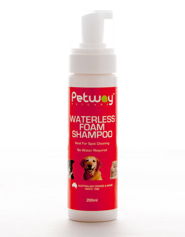 PETWAY PETCARE WATERLESS FOAM SHAMPOO 200ml
