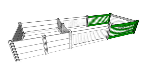 ANIMAL HOUSE EXTENSION PANELS WHITE (pictured in green) for Animal House Whelping Box - LARGE AND XLARGE
